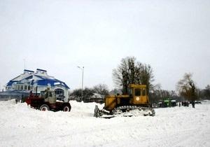 В Харьковской области из снежных заносов освободили автобус с россиянами