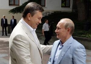 Источник: В Крыму Путин обсудит с Януковичем возможность снижения цены на газ