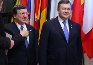 Баррозу рассчитывает на личную поддержку Януковича в интеграции Украины и ЕС