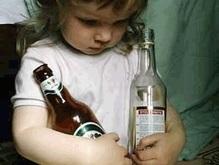 В Украине 60% отравлений среди детей вызваны алкоголем