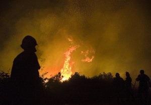 В Луганской области горят 4,5 гектара леса и сухой травы
