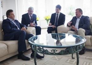 Янукович встретился с Коморовским тет-а-тет. Арест Тимошенко среди тем разговора не упоминается