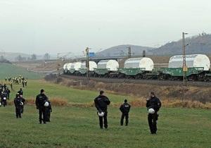Поезд из Франции доставил радиоактивные отходы в Германию, несмотря на протесты экологов
