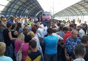 В Харькове протестующие против дорогостоящего поезда до Белгорода добились успеха