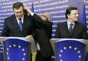 Янукович не услышал от ЕС даты введения безвизового режима