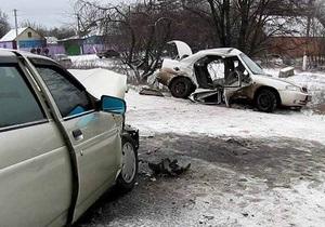В воскресенье в Украине произошло почти полтысячи ДТП