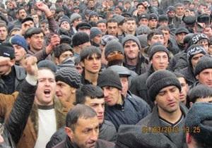 На севере Азербайджана вспыхнули массовые беспорядки
