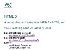 Вышла в свет новая версия HTML