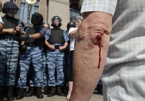 Фотогалерея: Драка на Крещатике. Попытка провести сессию Киевсовета обернулась потасовками