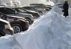 Горсовет Днепропетровска запретил парковку на 26 улицах во время снегопадов