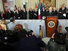 В Италии досрочные парламентские выборы