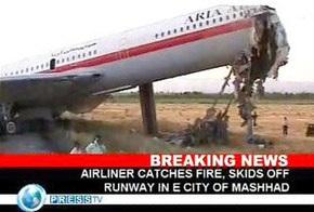 ТВ: Число жертв аварии пассажирского самолета в Иране возросло до 30 человек