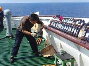 Китайские моряки отбивались от пиратов пивными бутылками