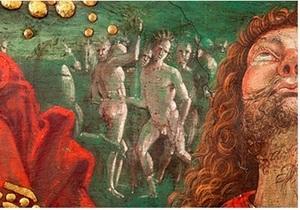 Новости археологии: В Ватикане на фреске Воскресение Иисуса обнаружили изображение индейцев