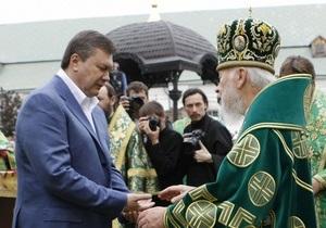 Янукович на Пасху посетит только церковь Московского патриархата
