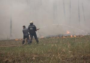 В Сумской области выгорели восемь гектаров нацпарка и агролесхоза