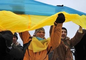 Фотогалерея: Под сине-желтыми знаменами. Украинцы отпраздновали День Соборности
