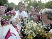 Ющенко вместе с сыном отпраздновал Ивана Купала