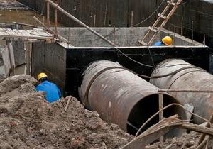 В Киеве будут перекрывать дороги из-за строительства канализационных коллекторов