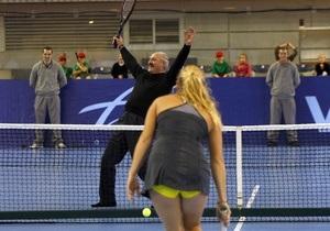 Лукашенко сыграл в теннис с первой ракеткой мира