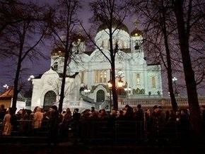 Церемонию прощания с Алексием II посетили более 25 тысяч человек