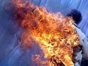 В Кировоградский области мужчина облил бензином и сжег товарища