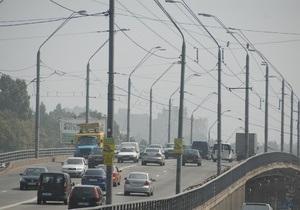 МЧС: Дымка над Киевом является следствием горения торфяников в Черниговской области