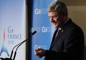 Канада не позволила внести в коммюнике саммита G-8 упоминание о границах Израиля 1967 года