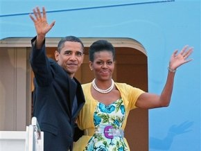 Обама прибыл в Москву