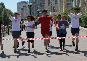 Киевская молодежь провела благотворительную пробежку в помощь сиротам