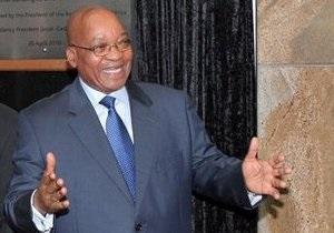 Президент ЮАР  обнародовал результаты своего анализа на ВИЧ