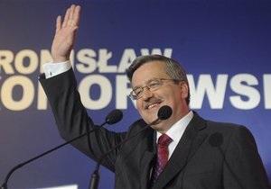 Коморовский пообещал вывести польские войска из Афганистана в случае победы на выборах