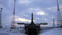 Ракета-носитель Союз вывела на орбиту спутники связи