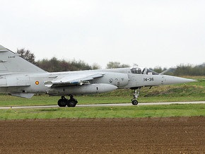 В Испании столкнулись два истребителя