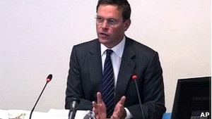 Джеймс Мердок дает показания перед комиссией Левесона