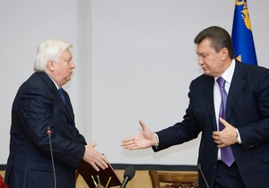 Янукович поздравил Пшонку с днем рождения