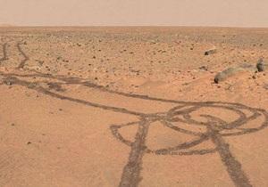 Новости с Марса - странные новости: Один из роверов нарисовал на Марсе пенис