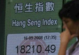 Азиатские индексы снизились, Гонконг в плюсе