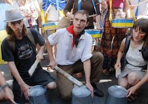 Под Украинским домом начался митинг Объединенной оппозиции
