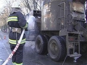 В центре Киева взорвался грузовик