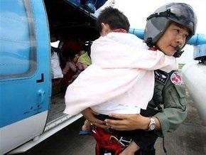 На Тайване спасены около 700 пострадавших от тайфуна Моракот