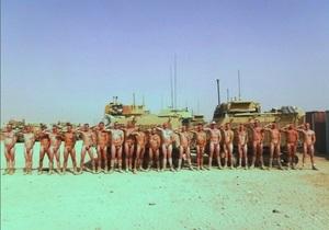Британские военные организовали голый флешмоб в поддержку принца Гарри