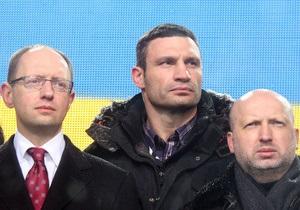 Яценюк и Турчинов не теряют надежд объединиться с Кличко