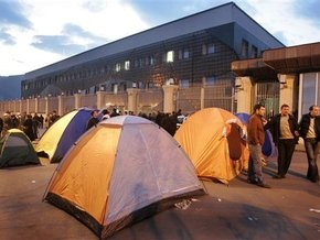 Грузинская оппозиция разбила палаточный городок у резиденции Саакашвили