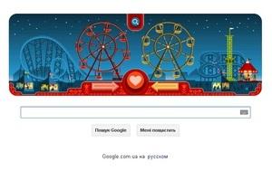 Google сменила логотип в честь Дня Святого Валентина и создателя колеса обозрения