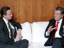 Ющенко встретился в Давосе с лидером британской оппозиции