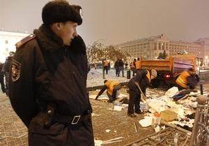СМИ: Во время сноса палаток на Майдане координаторам акции протеста отключили связь