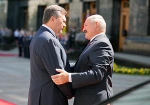 Янукович встретился с Лукашенко