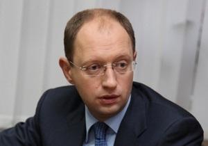 Яценюк: Закон о выборах - результат работы оппозиции с европейскими структурами