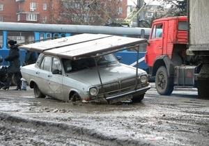 Попов подсчитал, сколько денег нужно для ремонта киевских дорог